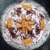 Gâteau fondant aux trois chocolats et son croquant praliné