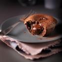 Coeur coulant au chocolat noir intense