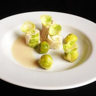 Maki de fromage blanc, salade et choux