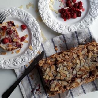 Cake amande framboise