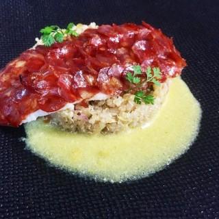 Filet de sole et écailles de chorizo