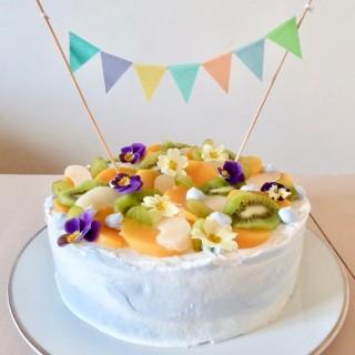 Gâteau d'anniversaire, tutti frutti
