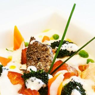 Cabillaud, légumes de saison et béchamel