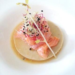 Royale de fenouil, saumon mariné aux agrumes