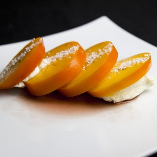 Dessert kakis mascarpone coco