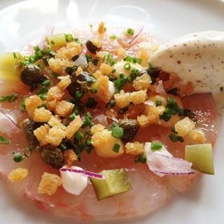 Carpaccio de Saint-Jacques, sorbet moutarde