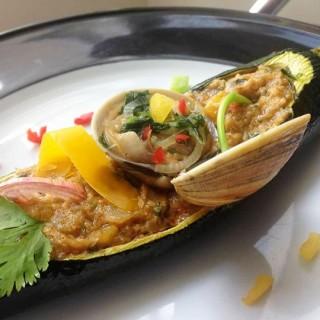 Courgette farcie aux fruits de mer