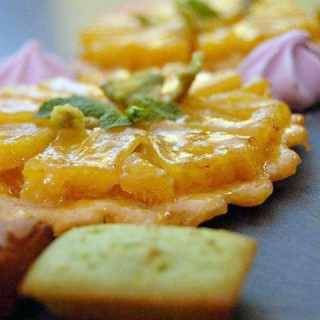 Tartelette aux fruits de saison et financier