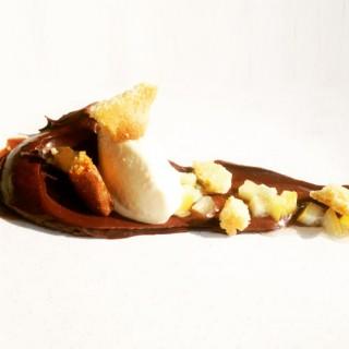 Ganache, chocolat et palet breton