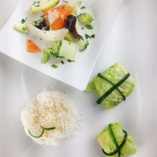 Légumes au coco, faux riz