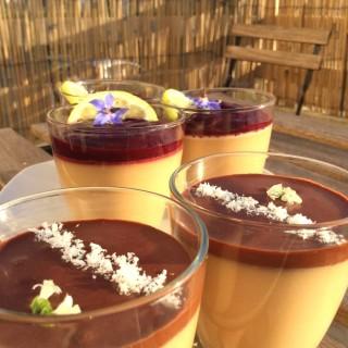 Panna Cotta Mûres et Chocolat