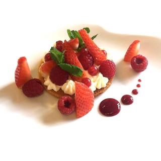 Tartelette aux fraises et framboises
