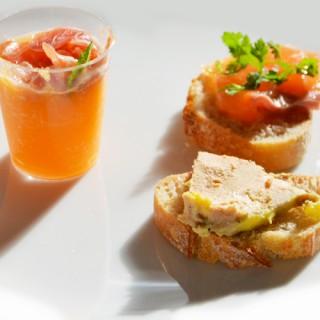 Toasts de foie gras et saumon gravlax maison