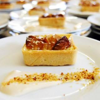 Tarte normande et crème au Calvados