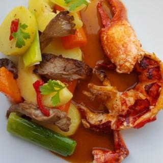 Homard Bleu Coulis de Crustacé Légumes Saison