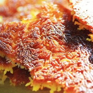 Tah Dig - Specialité persane, Croûte de riz au safran