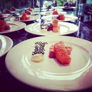 Saumon/petit pois/agrume