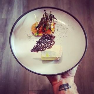 Foie gras/ Clémentine/café