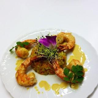 Langoustines et tartare de légumes croquants