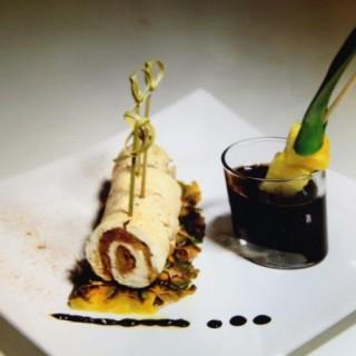 Rouleau de poulet ananas