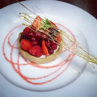 Tarte aux fruits rouges, mascarpone