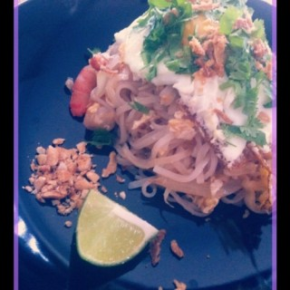 Pad Thai aux crevettes et oeuf
