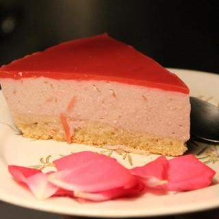 Bavarois rose-framboise