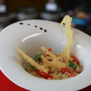 Risotto et croustillant de parmesan