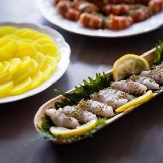 Sashimi de Bar - Takouan et Shiso