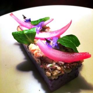 Morilles/crabe pickles