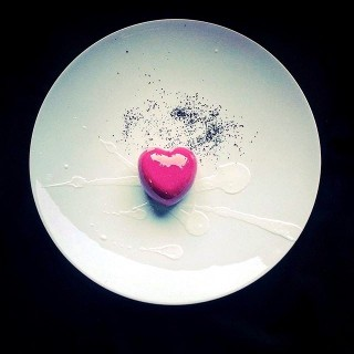 Le coeur chocolat blanc/ litchi