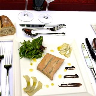Foie gras Fumé  par mes soins et artichauts