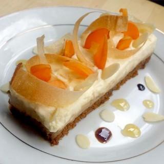 Bavarois vanille, café, abricots et speculos