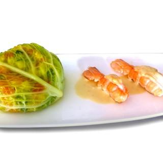 Salpicon de légumes et langoustines