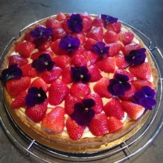 Tarte aux fraise crème diplomate