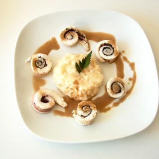 Médaillon de sole aux truffes et risotto marin