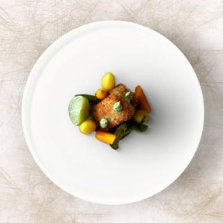 Cromesquis et petits légumes