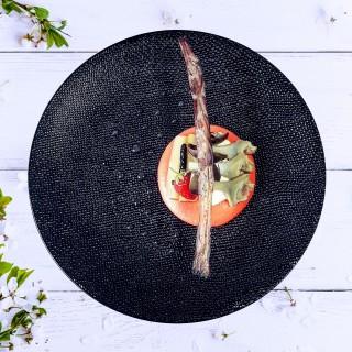 Macaron rhubarbe-artichaut