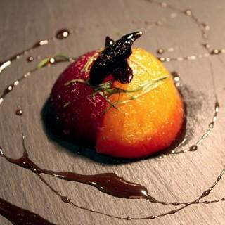 Prune rôtie au miel fève tonka verveine citron