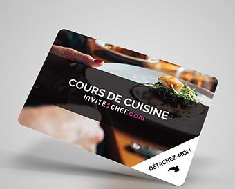 Carte cadeau Cours de cuisine avec un chef