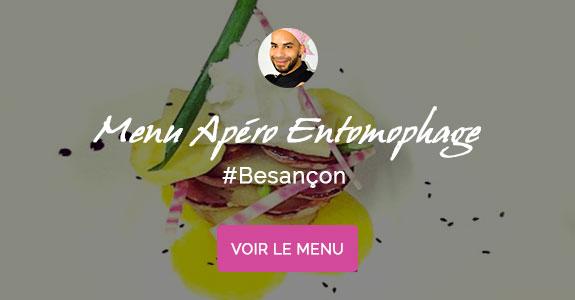 Johnny Beudaert, chef à domicile sur Besançon, cuisine entomophage