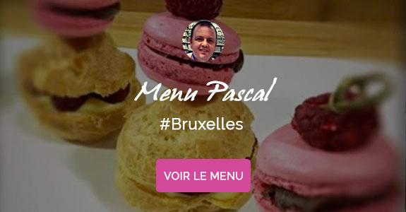Xavier Jockmans, chef à domicile à Bruxelles, menu de Pâques