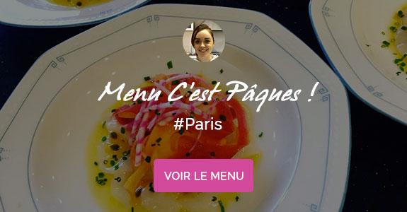 Aurore Dubois, chef à domicile sur Paris, menu de Pâques