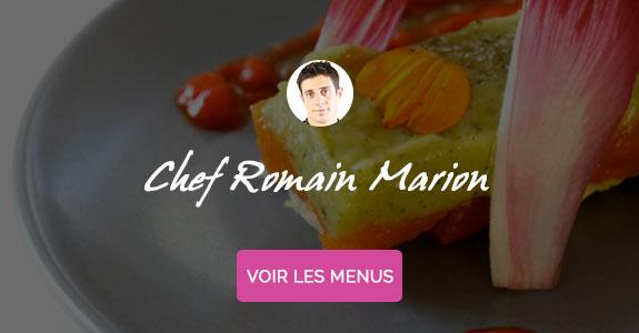 Romain Marion, cuisinier à domicile à Biarritz