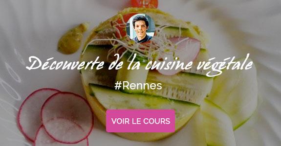 Corentin Crutzen, chef à domicile sur Rennes, cours de cuisine végétarienne
