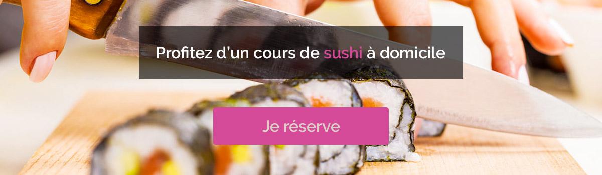 cours de sushi a domicile lyon