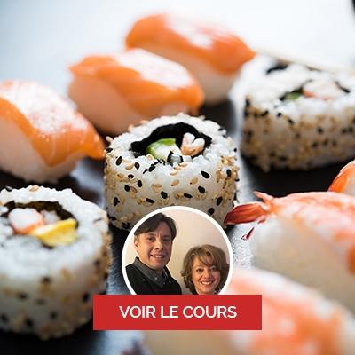 Didier & Nathalie, chefs à domicile sur Bruxelles, cours de sushi